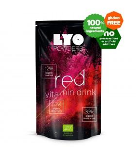 Bebida roja orgánica de vitaminas liofilizada