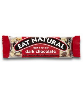 Barrita Eat Natural de chocolate negro, arándanos y nueces de macadamia