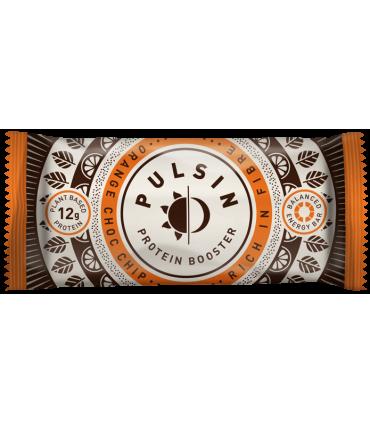 Barrita Pulsin protein booster naranja chocolate