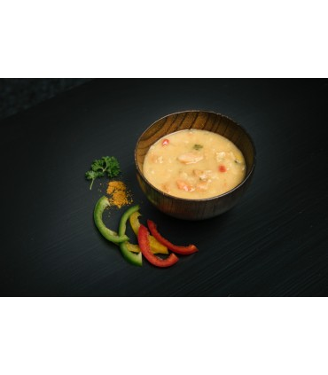 Sopa de pollo liofilizada