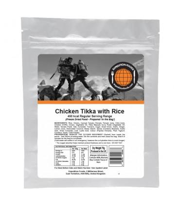 Pollo Tikka con arroz liofilizado