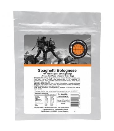 Espagueti boloñesa liofilizado