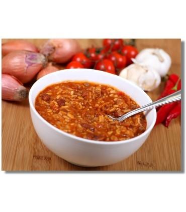 Chili con carne liofilizado