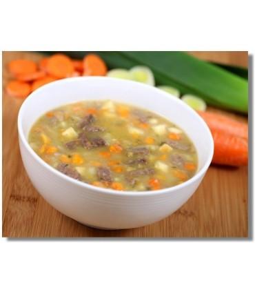Sopa de carne liofilizada