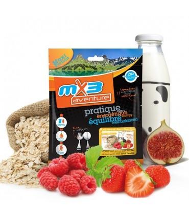 Muesli leche y fruta (higos-fresas-frambuesas) liofilizado