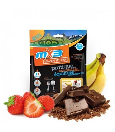 Fondue de chocolate y frutas crujientes liofilizada
