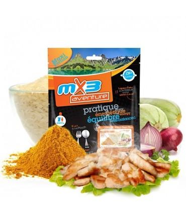 Pollo colombo con arroz liofilizado