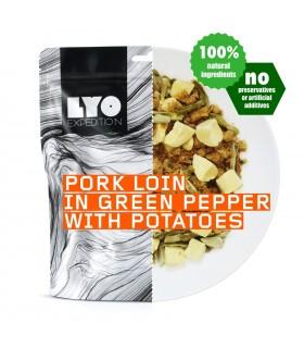 Lomo de cerdo a la pimienta verde con patatas liofilizado