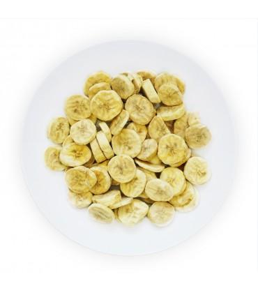 Plátano liofilizado