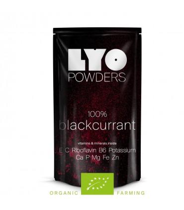 Grosella negra orgánica en polvo liofilizada