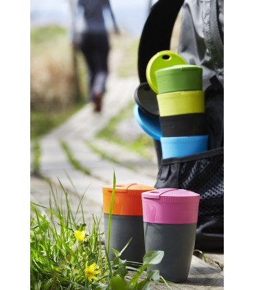 Pack-Up Cup 4-Pack Azul cian/Lima/Verde/Fucsia