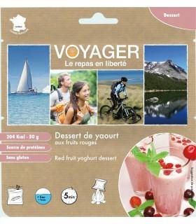 Postre de yogurt con frutos rojos liofilizado