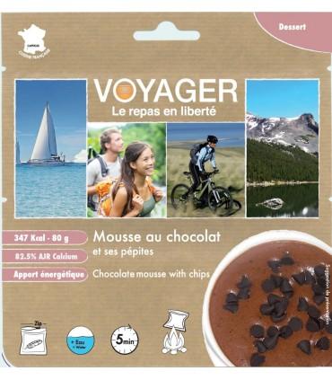 Mousse de chocolate liofilizado