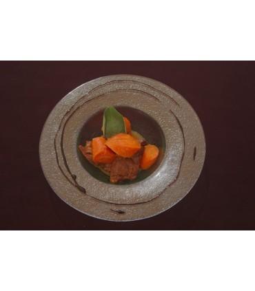 Carne de ternera con zanahoria