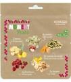 Ensalada de frutas liofilizada