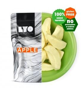 Manzana liofilizada