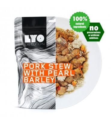 Guiso de cerdo con cebada perlada liofilizado