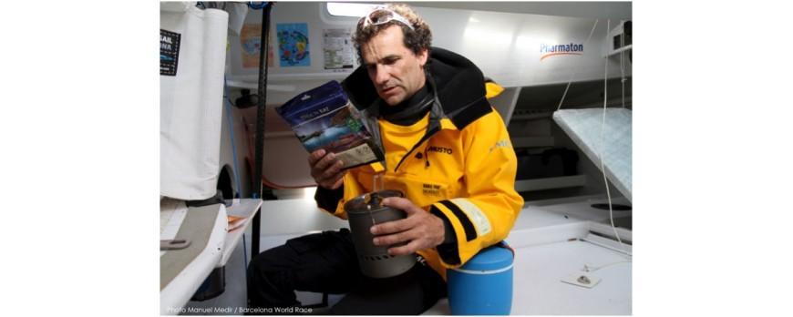 Alimentación en una regata oceánica